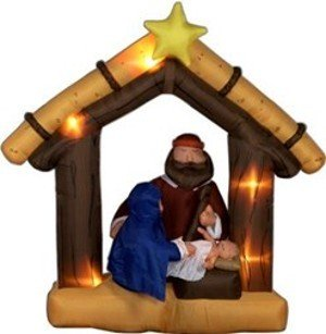 Gemmy Airblown Inflatable 9 Ft Tall Nativity Scene