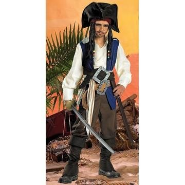 For Kids Sparrow Jack Costume Captain (Standard Captain Jack Sparrow Costume - Child)