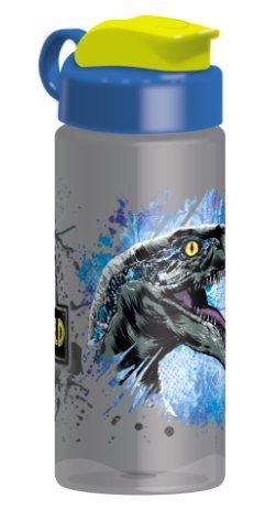 Zak Designs Jurassic World 16.5oz Sullivan Bottle Grey Tint Clear Water Bottle with Dinosaur Logo