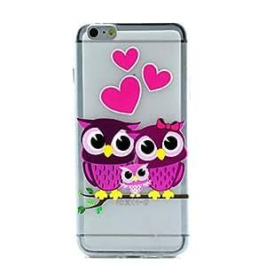 GDW Funda Trasera - Diseño Especial/Transparente/Otro/Innovador/Dulce/Animal - para iPhone 6 Plus ( Rosa/Morado/Multicolor , TPU )