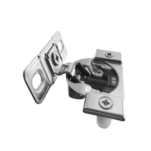 """Compact Blumotion 38B (Round Cup) Hinge & Plate, For 1-3/8"""" Or Greater Overlay, Face Mount, Screw-On"""