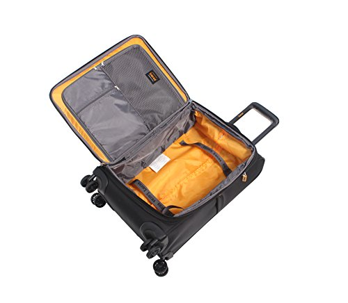Lucas Ultra Lightweight 3 Piece Expandable Suitcase Set With Spinner Wheels (One Size, Black) by Lucas (Image #3)