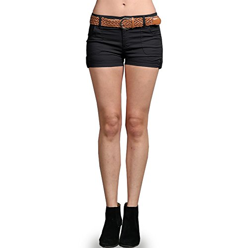 Color Swatch New Fashion Women's Cotton Twill Sexy Hot Casual Shorts with Wide Belt Pants S, - Swatch For Sale