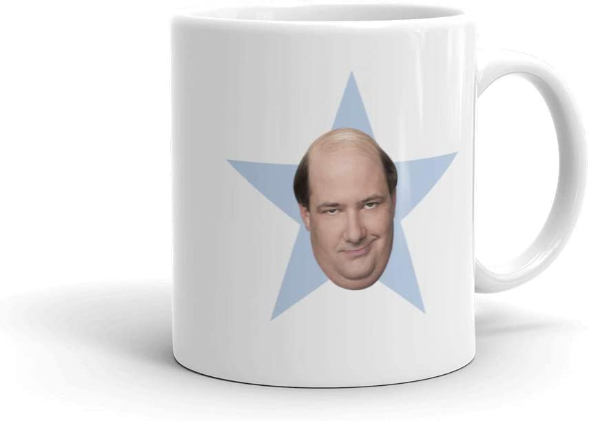 The Office Kevin Star White Mug - 11 oz. - Official As Seen On Mug