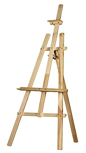 (DCDIRECT Adjustable Wooden Easel Painting Stand - Canvas Tripod Easel Stand for Painting and Sketching)