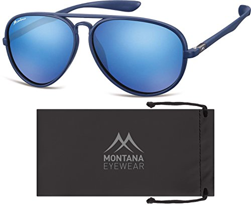 Montana, Lunettes de Soleil Mixte Multicolore - Multicoloured (Blue/Revo Blue)