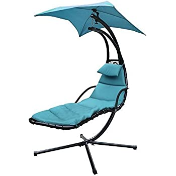 Amazon Com Giantex Hanging Chaise Lounger Chair Arc