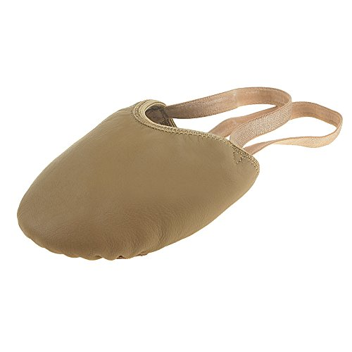 MSMAX Half Sole Eclipse Leather Ballet Dance Shoe Brown Size L ()
