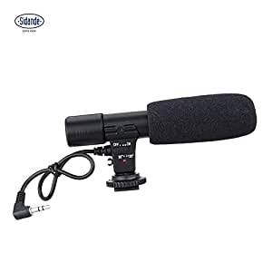 Andoer sidande MIC-01Video Digital DV videocámara estéreo 3,5mm grabación micrófono para Canon Nikon Pentax Olympus Panasonic cámara digital SLR