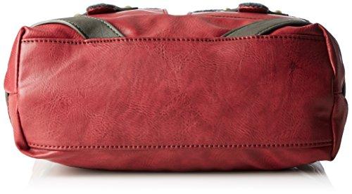 Rieker H1440, Bolsa de Medio Lado para Mujer, Beige (Wine/Anthrazit), 100x260x320 cm (B x H x T)
