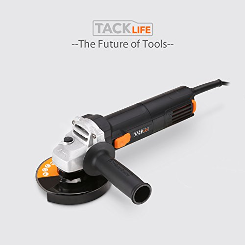 Tacklife-AGK31AC-4-12-Inch-Angle-Grinder-63-Amp-11000-RPM-with-3pcs-Abrasive-WheelsCutting-Wheel-Grinding-Wheel-and-Flap-Disc-and-2-Extra-Carbon-Brushs