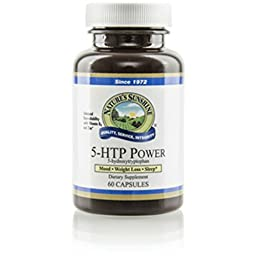 Nature\'s Sunshine 5-htp Power Dietary Herbal Supplement Support Nervous & Immune System 60 Capsules Each (Pack of 2)
