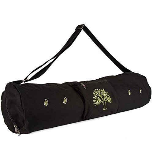 Peace Yoga Air Vent Yoga Mat Bag Black Tree