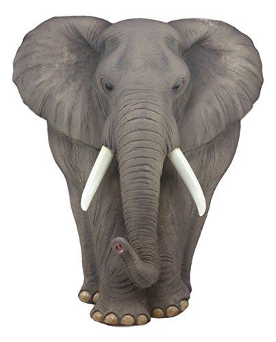 Ebros Woolly Safari Marching Bush Elephant Wall Decor 18