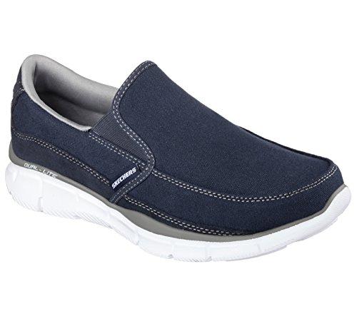 Skechers Equalizer Popular Demand Mens Walking Sneakers Navy/Gray 11 (Popular Sneakers)