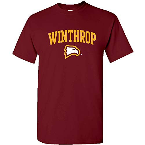 - AS03 - Winthrop Eagles Arch Logo T-Shirt - Medium - Garnet
