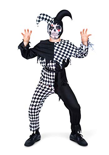 Child Evil Jester Costume Medium