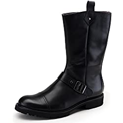 Zorgen Men's Dress Boots Genuine Leather Buckle Strap Formal Business Wedding Shoes Leather Boots