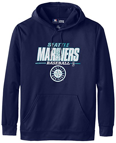 MLB Seattle Mariners Men's SA2 Fleece Hoodie, Navy, XX-Large