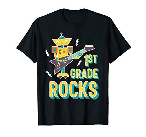 Electric Guitar Robot   1st Grade Rocks T-Shirt