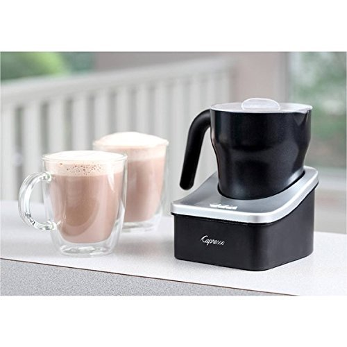 Capresso Aluminum Froth Pro 8 ounce Auto Milk Frother, Bl...