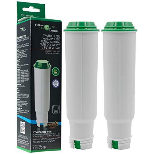 2 x FilterLogic CFL-701B – Filtro de agua reemplaza el cartucho CLARIS para Krups / Bosch / Siemens / Neff / Gaggenau…