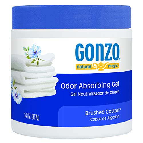 Gonzo Natural Magic Natural Magic Air Purifying Gel, Odor Eliminator for Cars, Closets, Bathrooms and Pet Areas, Captures and Absorbs Odors - 14 Ounce - Brushed Cotton (Gonzo Sponges)