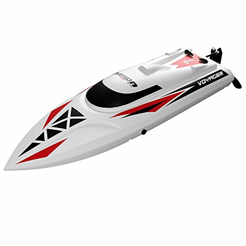 "USA Toyz RC Boat Kit - ""UDI007 Voyager"" RC Boats for Adults + Kids with 2 RC Boats Batteries for Fast Remote Control Boat Lake Toys and RC Speed Boats"