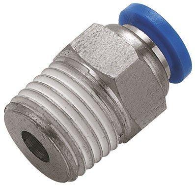 Straight Push in Fitting 5mm x 1/4' Male Stud (b62) Pneumax