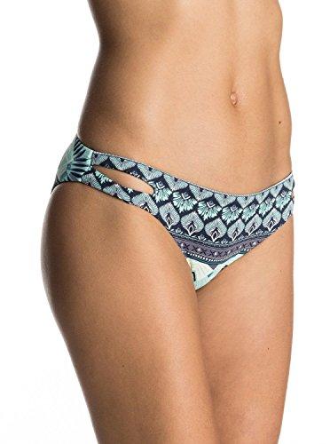 Roxy Women's Printed Strappy Love Reversible Scooter Bikini Bottom, Dress Blue Hippie (Reversible Tankini Top)