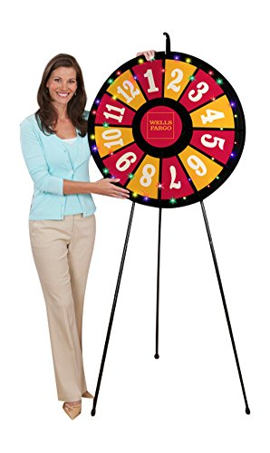 12 Slot Floor Stand Prize Wheel (31 Inch Diameter) by Prize Wheels R Fun