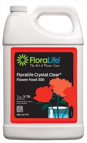 Floralife Crystal Clear Flower Food 300 Liquid, 1 Gallon/3.78L (Liquid Flowers)