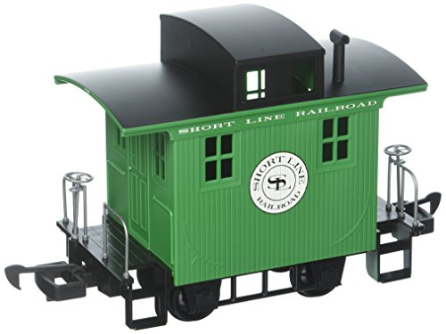 (Bachmann Industries Li'L Big Haulers Caboose Short Line G-Scale Railroad with Green/Black Roof, Large)