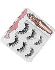 Magnetiska ögonfransar Naturlig lång magnetisk flytande eyeliner och magnetiska konstgjorda ögonfransar och pinter set Gör set eyelash förlängning