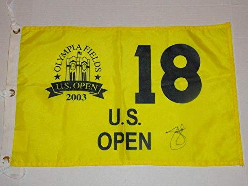 Jim Furyk Signed 2003 Us Open Pin Flag Olympia Fields U.s. Legend Rare Autographed Pin Flags