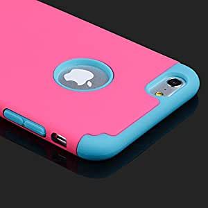 Baoer Shockproof Rugged Hybrid Rubber Hard Cover Case for Apple iPhone 6 4 7 Plus 5 5 ,MPN:Purple;Model:For iPhone 6 Plus 5.5""
