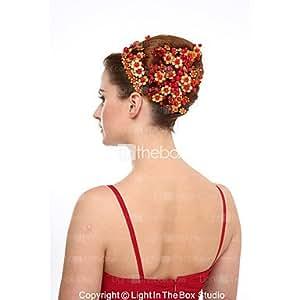 Las mujeres de cristal sintética Pearl headpiece-wedding ocasión especial Diademas 1pieza