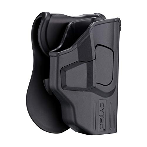 - Glock 43 Holster OWB, Outside The Waistband Concealed Carry Paddle Holster Fit Glock 43, Tactical Polymer Pistol Gun Holster Gen3 with 360° Adjustable-RH