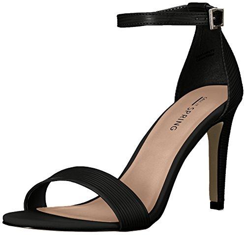 Chiamalo Primavera Femminile Ahlberg Vestito Sandalo Sintetico Nero