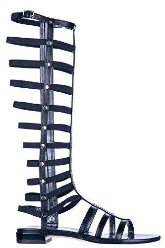 Stuart Weitzman sandali donna in pelle originale nero
