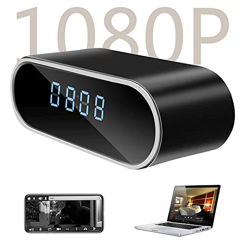 Hidden Camera Clock - DareTang HD 1080P WiFi Hidden Spy Camera Alarm Clock Nanny Cam Night Vision/Motion Detection/Loop Recording Home Surveillance Cameras