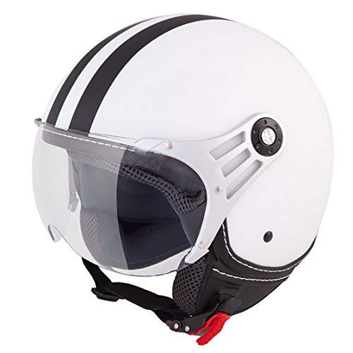 Vinz Fiori Roller Helm Jethelm Fashionhelm |in Gr. XS-XL | Jet Helm mit Streifen | ECE Zertifiziert | Motorradhelm mit…