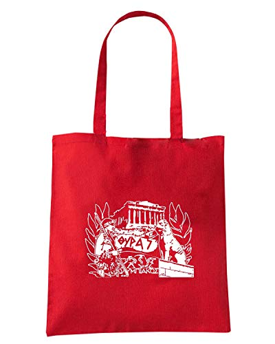 Speed Shirt Borsa Shopper Rossa TUM0061 ULTRAS OLYMPIAKOS