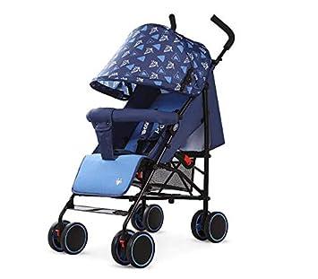AZSUT - Carro de bebé Ligero de Verano Plegable bebé Coche Puede Lie on Parachute, Carrito de bebé, Diamante de Verano Dinero - Azul.: Amazon.es: Hogar