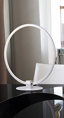 Kenroy Home Modern Table Lamp ,15 Inch Height, 14 Inch Width with White Finish