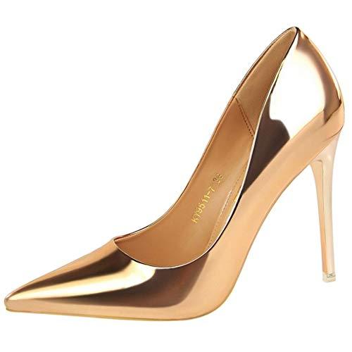On Heels Pumps Donne 4 Zanpa Stiletto Moda champagne Slip YPpzqf4