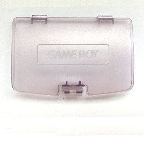 Cover Color Boy Game Battery (Battery Back Door Cover Case for Gameboy Color GBC Game Boy Color Replaceme Clear Purple)