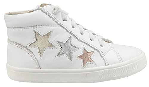 Girl's 6033 Zipper Elastic Snow Old Stardom Stars Side with Soles Top Sneaker High Leather Boy's and Lace Smooth 54BqI