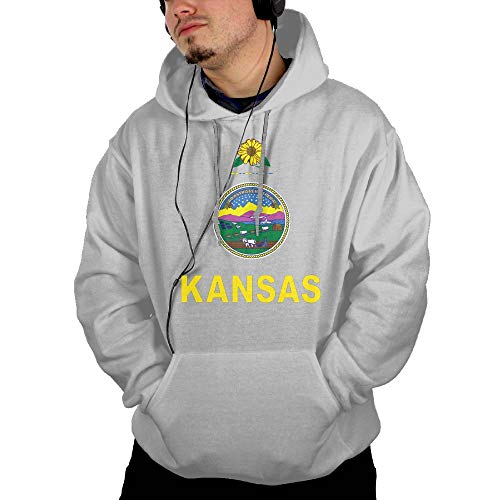 Kansas Flag Men's Hoodies Hooded Sweatshirt with Pocket