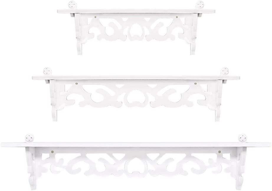 estanter/ías de pared estanter/ías de pared de madera GOTOTO Juego de 3 estanter/ías de pared